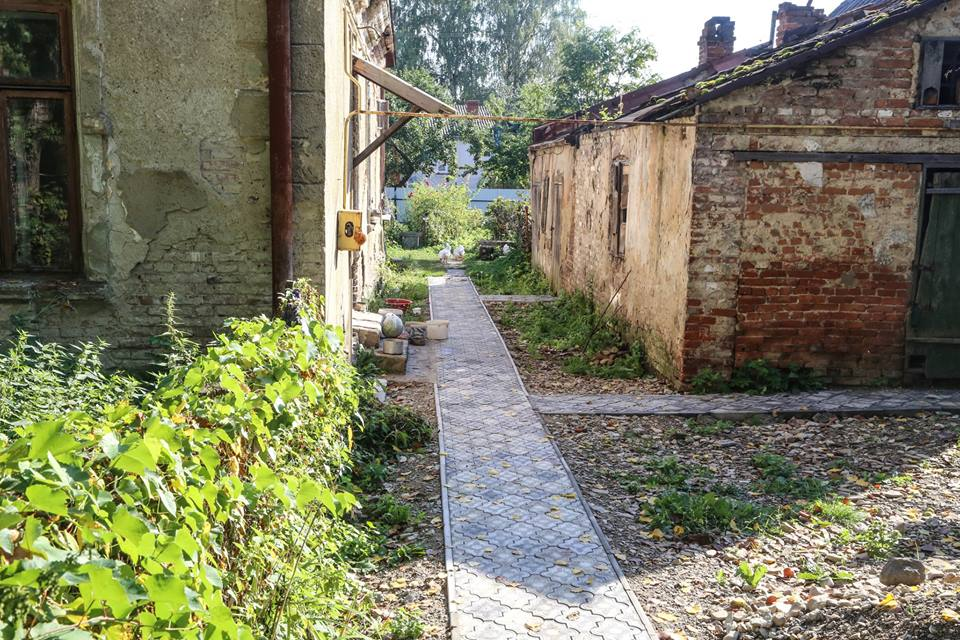 Dobromyl 7-There is now a new walkway where the Jewish gravestones had been walked on for over 70 years..jpg
